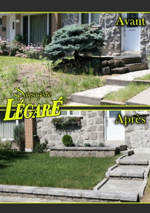 Paysagiste Légaré - Architectes paysagistes - 514-325-7017