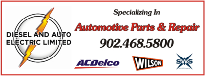 Diesel And Auto Electric Ltd - New Auto Parts & Supplies
