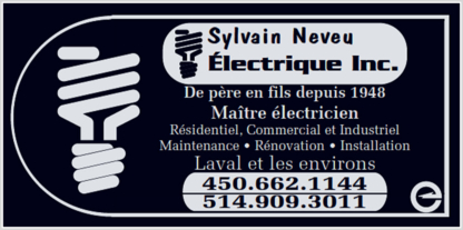 Neveu Electrique - Electricians & Electrical Contractors - 450-662-1144