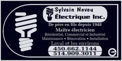 View Sylvain Neveu Electrique Inc's Montréal profile