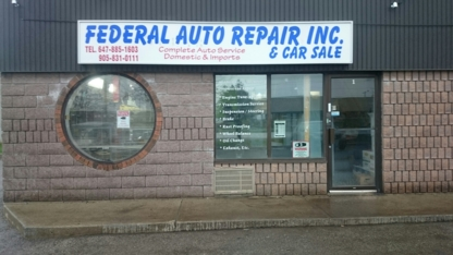 Federal Autos - Auto Repair Garages - 905-831-0111