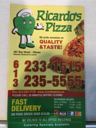 Ricardo's Pizza - Pizza & Pizzerias - 613-235-5555