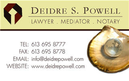 Law Office of Deidre S Powell - Avocats en immigration - 613-695-8777