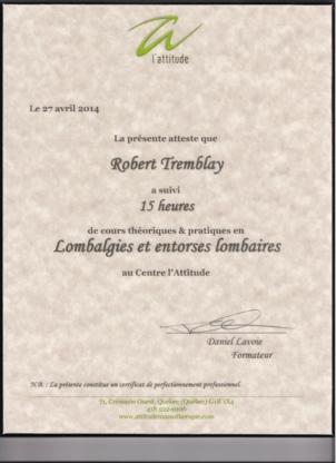 Centre de massothérapie Robert Tremblay - Massothérapeutes - 418-208-7519