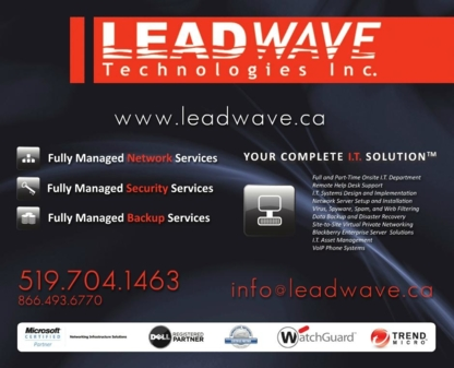 Leadwave Technologies Inc - Computer Consultants - 519-704-1463
