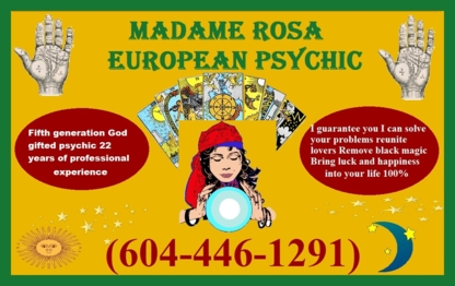 Rosa's psychic studio psychic reader spellcaster spiritual healer - Astrologers & Psychics - 604-446-1291