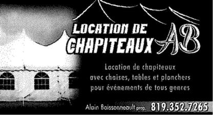 Location de Chapiteaux AB - Location de tentes