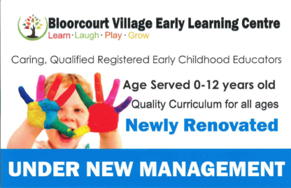 Bloorcourt Village Early Learning Centre - Kindergartens & Pre-school Nurseries - 416-536-0574
