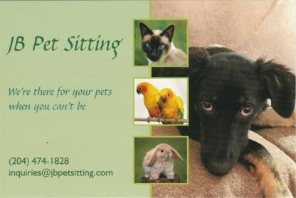 J B Pet Sitting - Garderie d'animaux de compagnie - 204-474-1828