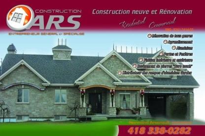 Construction ARS - Entrepreneurs en construction - 819-582-9281