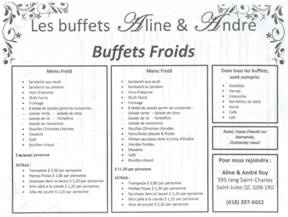 Buffet Aline Poulin - Caterers - 418-397-6652