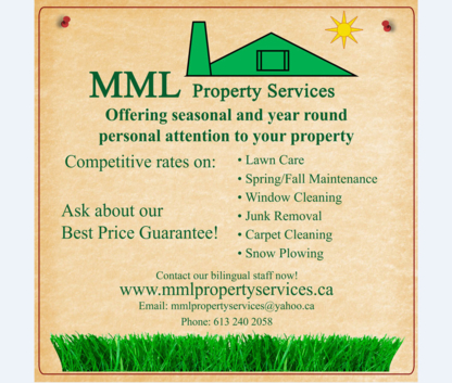 MML Property Services - Lawn Maintenance - 613-240-2058