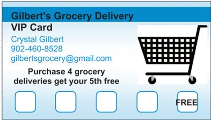 Gilbert's Grocery Delivery Service - Courier Service - 902-460-8528