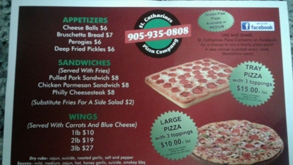 St Catharines Pizza Company - Restaurants - 905-935-0808