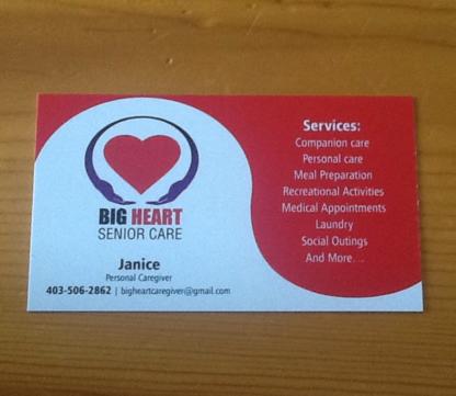 Big Hearts Senior Care - Services et centres pour personnes âgées
