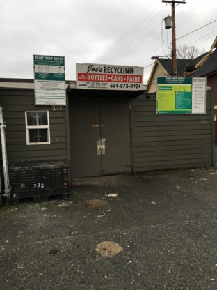 Joe's Bottles & Paint Depot - Recycling Services - 604-873-0924