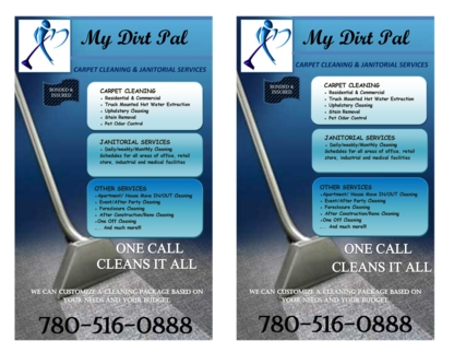 My Dirt Pal Carpet Cleaning Services - Dry Cleaners - 780-516-0888