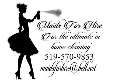 Maids for Hire - Commercial, Industrial & Residential Cleaning - 519-570-9853