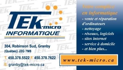 View Tek-Micro Informatique's Granby profile