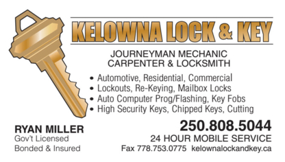 Kelowna Lock & Key - Safes & Vaults - 250-808-5044