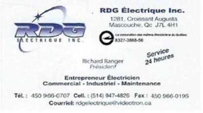 View RDG Electrique Inc's Saint-Roch-de-l'Achigan profile