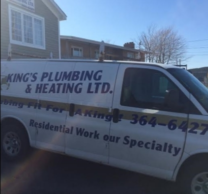 King's Plumbing & Heating Ltd - Plombiers et entrepreneurs en plomberie - 709-364-6427