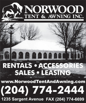 Norwood Tent & Awning Inc - Awning & Canopy Sales & Service - 204-774-2444
