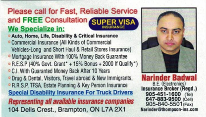 Badwal Insurance - Insurance Brokers - 905-451-1600