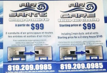 Air Care - Air Santé - Duct Cleaning