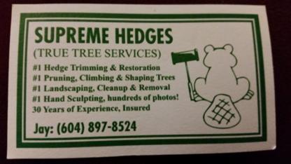 Supreme Hedges - Tree Service