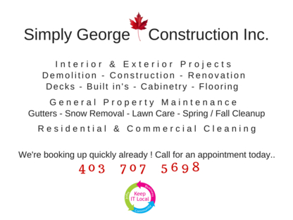 Simply George Construction Inc - General Contractors