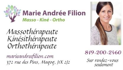 Marie-Andrée Filion Massothérapie Orthothérapie Kinésithérapie - Massothérapeutes - 819-200-2460
