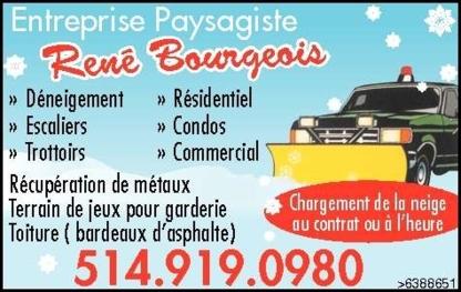 Entreprise Paysagiste Rene Bourgeois - Snow Removal