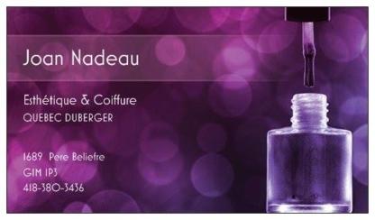Joan Nadeau Esthétique et Coiffure - Hairdressers & Beauty Salons - 418-380-3436
