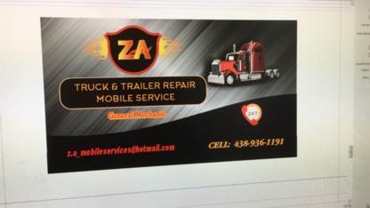 ZA Mobile Services - Entretien et réparation de camions
