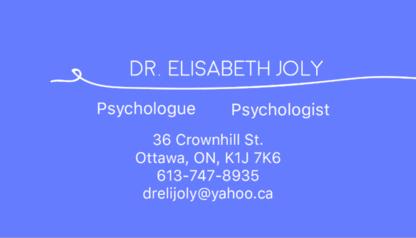 Voir le profil de Dr Elisabeth Joly - Montebello