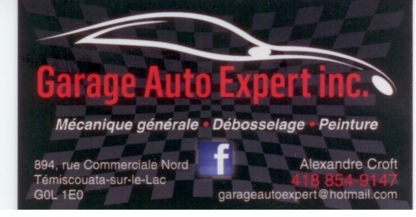 Garage Auto Expert Inc - Auto Repair Garages - 418-854-9147