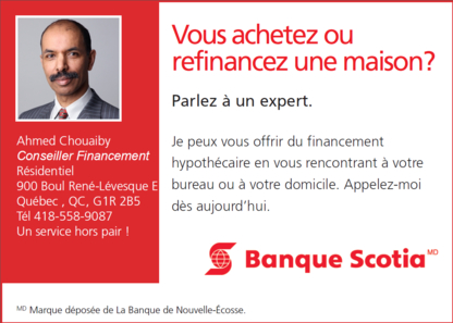 Ahmed Chouaiby Conseiller en Prêts Hypothécaires - Conseillers en financement