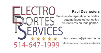 View Electro Portes Services Inc's Boucherville profile