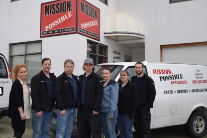 Mission Possible Appliance Sales & Service - Refrigerator & Freezer Parts