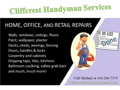 Cliffcrest Handyman Services - Carpentry & Carpenters