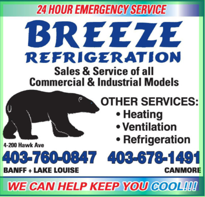 Breeze Refrigeration Ltd - Heating Contractors - 403-760-0847