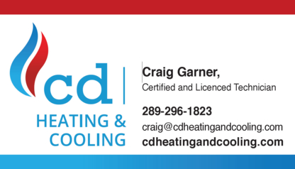 CD Heating and Cooling - Heating Consultants - 289-241-1823