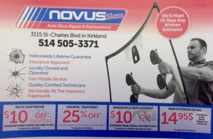 Novus Glass - Pare-brises et vitres d'autos - 514-505-3371