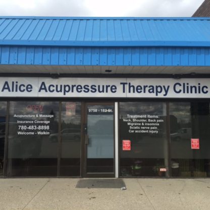Alice Acupuncture Therapy Clinic - Holistic Health Care - 780-483-8898