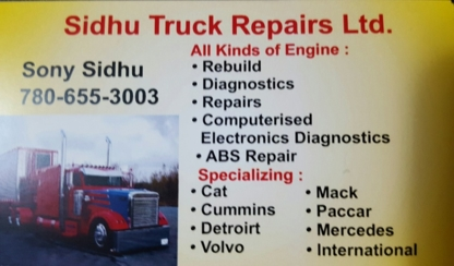 Sidhu Truck Repairs Ltd - Truck Repair & Service
