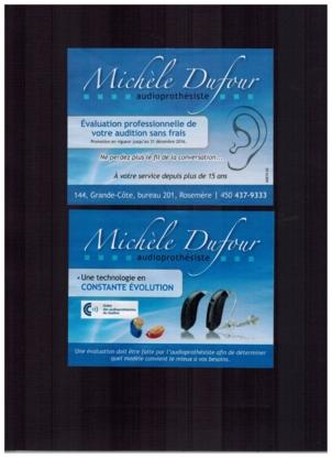 Audioprothésiste Michèle Dufour - Prothèses auditives - 450-437-9333