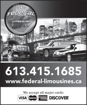 Federal Limousine - Service de limousine - 613-415-1685
