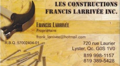 Les Constructions Francis Larrivée Inc - Entrepreneurs en construction - 819-998-1157