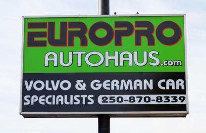 Europro Autohaus Ltd - Car Repair & Service - 250-870-8339